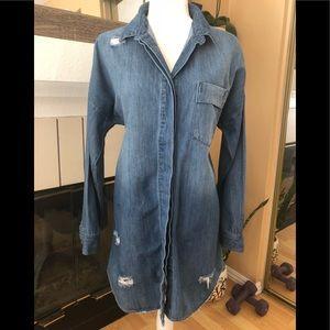 In progress long sleeve denim dress